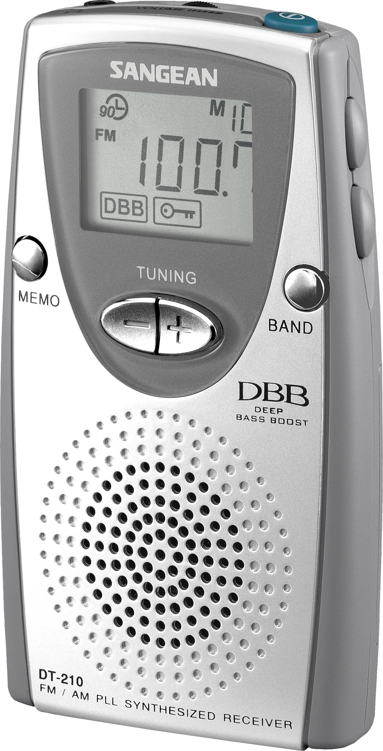 DT-210, pocket radio PLL, silvergrey