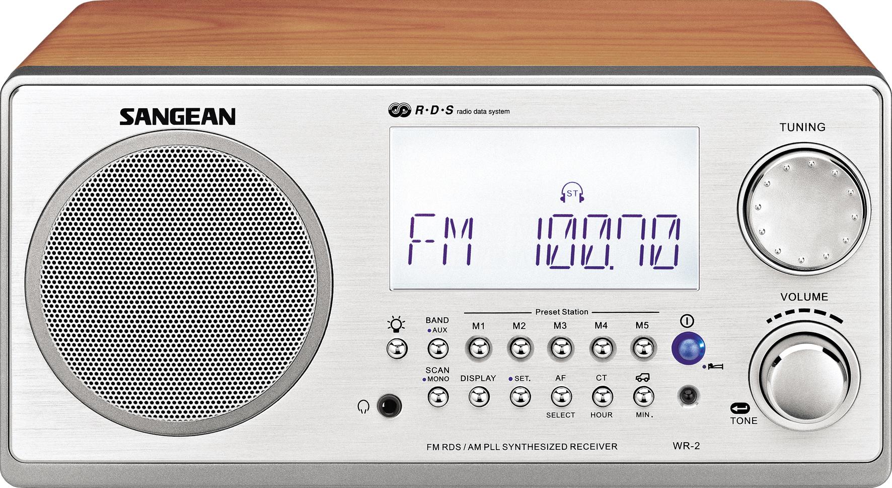 WR-2, wooden cabinet radio, silver/walnut