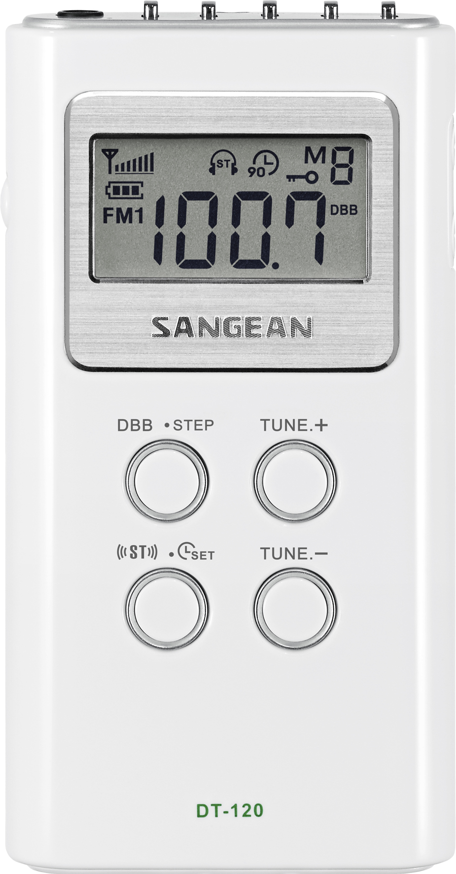DT-120, pocket radio PLL, white
