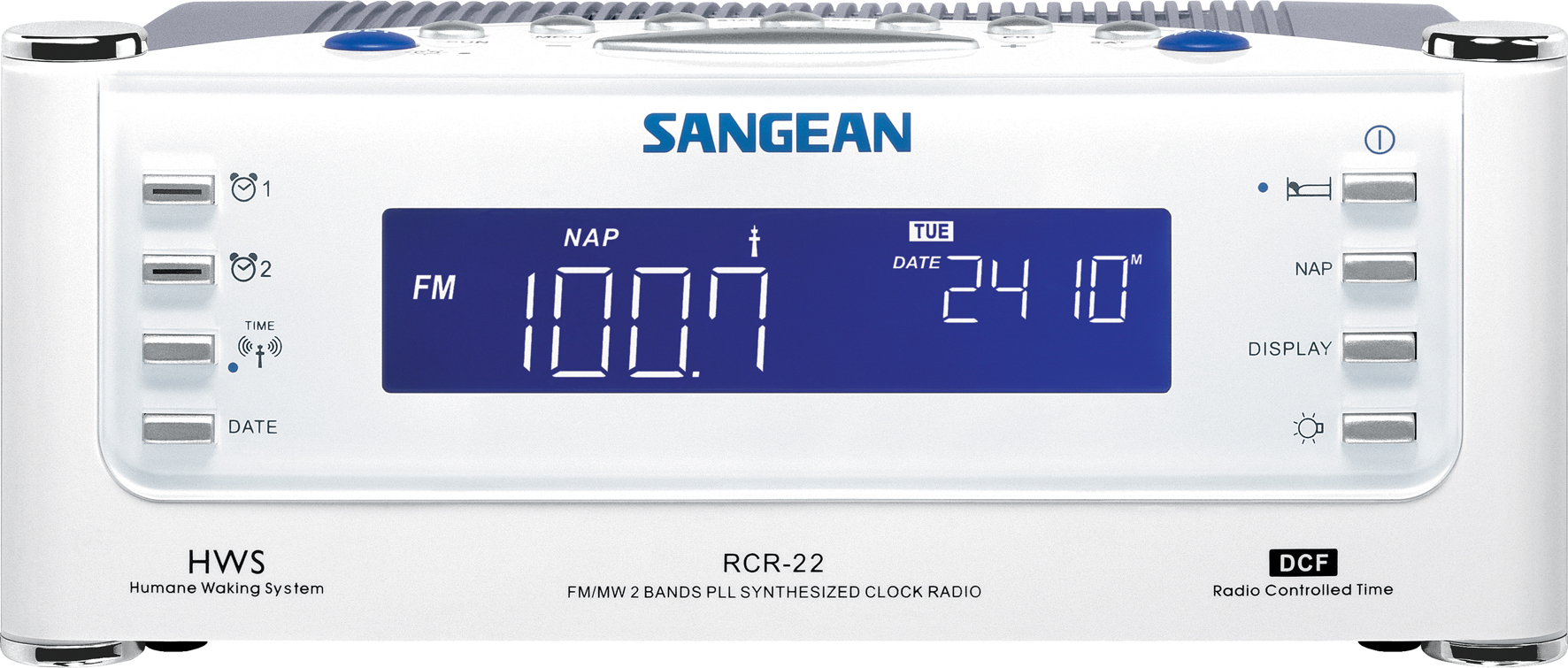 RCR-22, digital clock radio, white