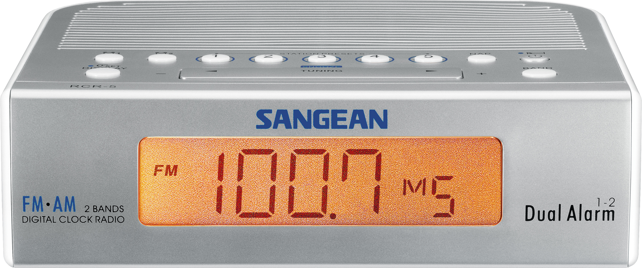 RCR-5, digital clock radio, silver