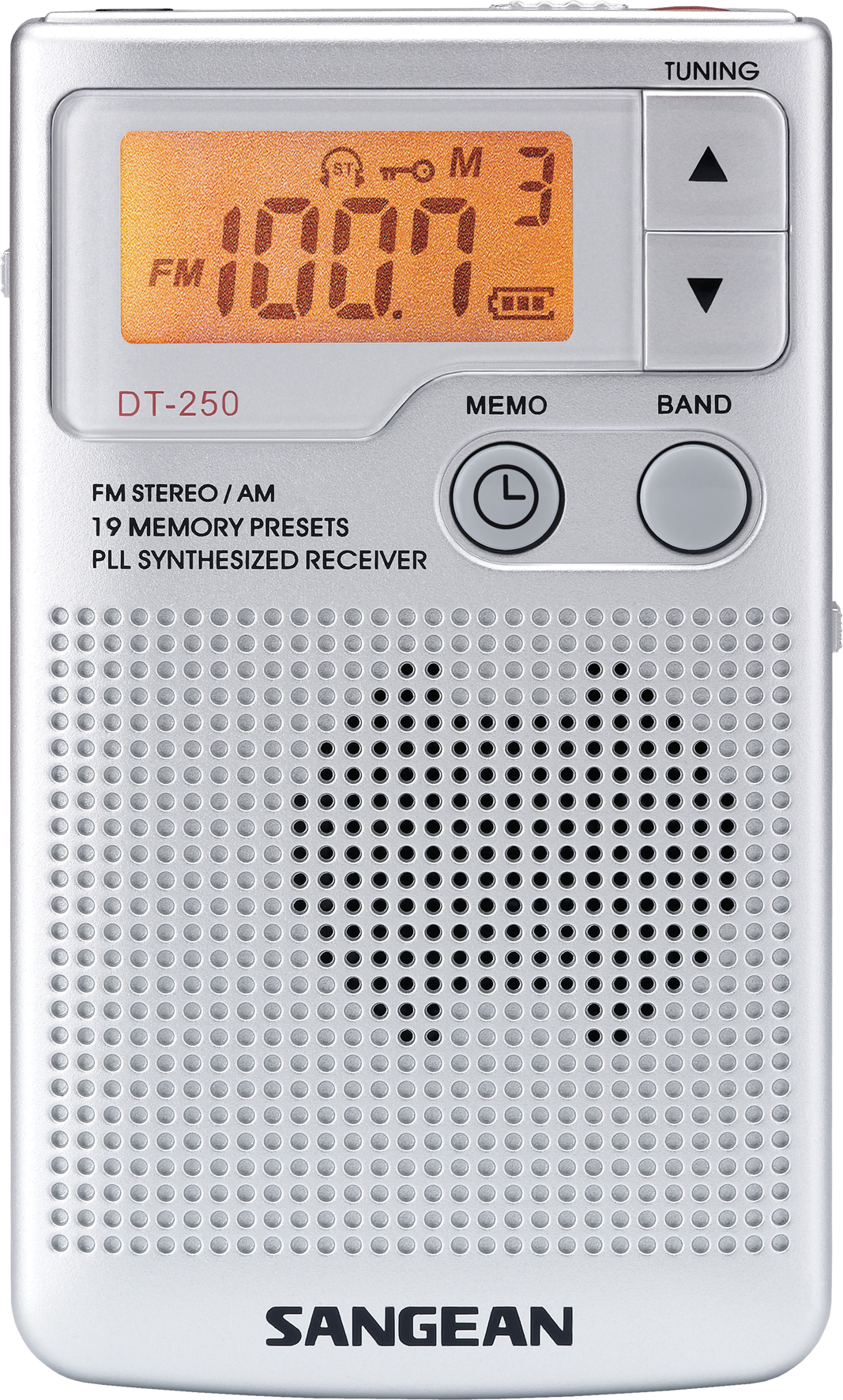 DT-250, portable radio, incl. clock, silvergrey
