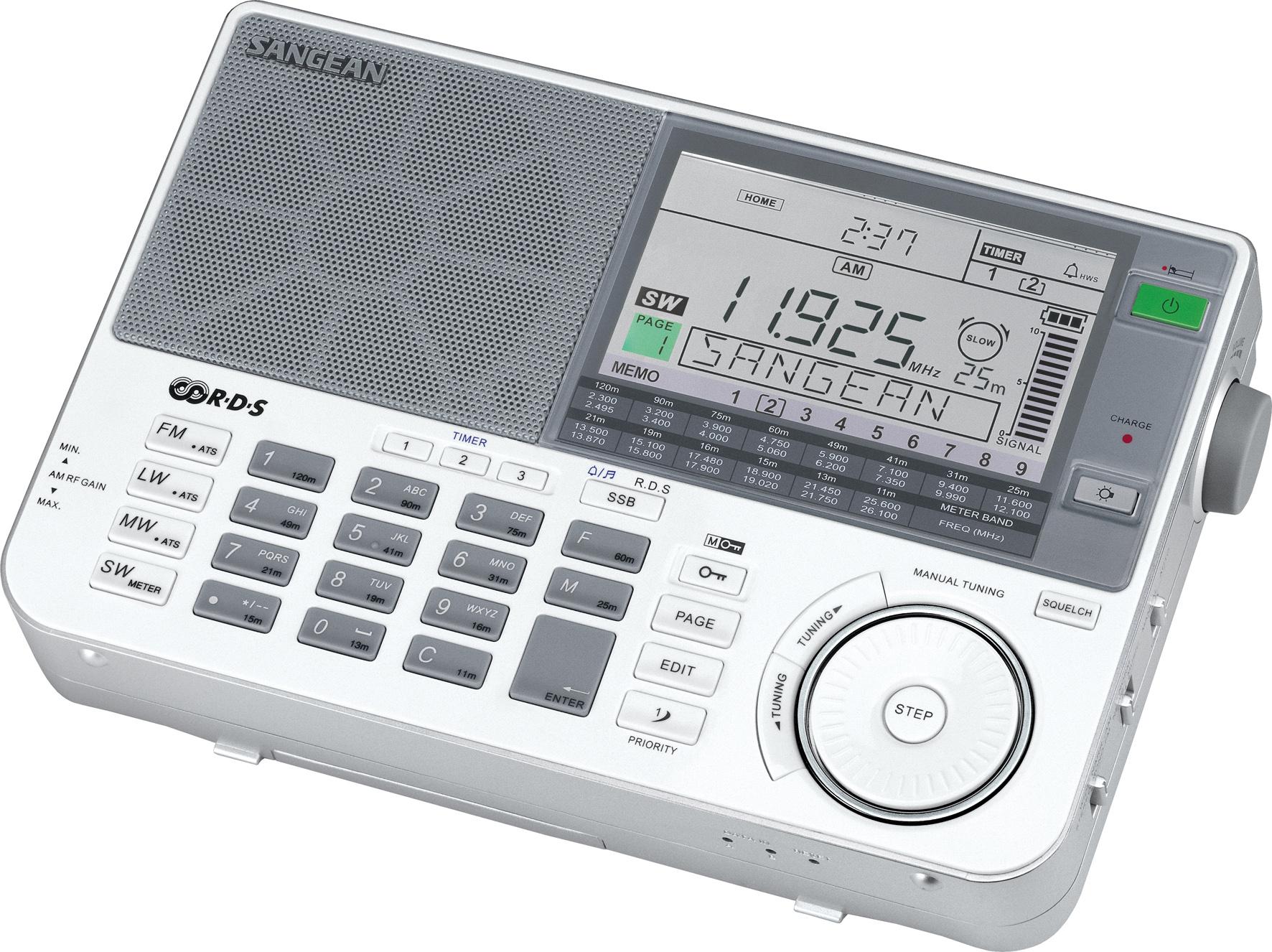 ATS-909X, world receiver, white