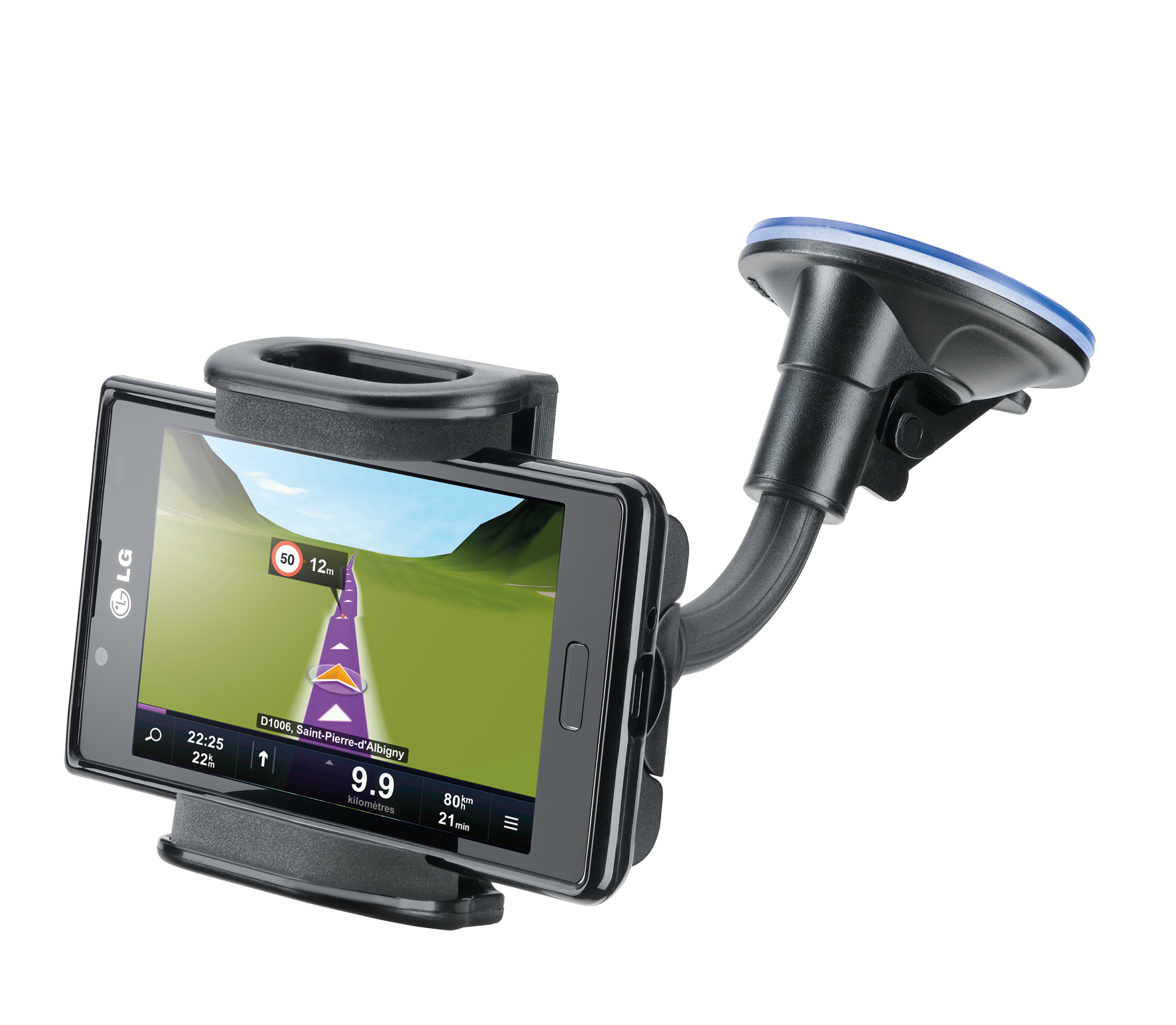 Car holder, pilot techno dualfix, black