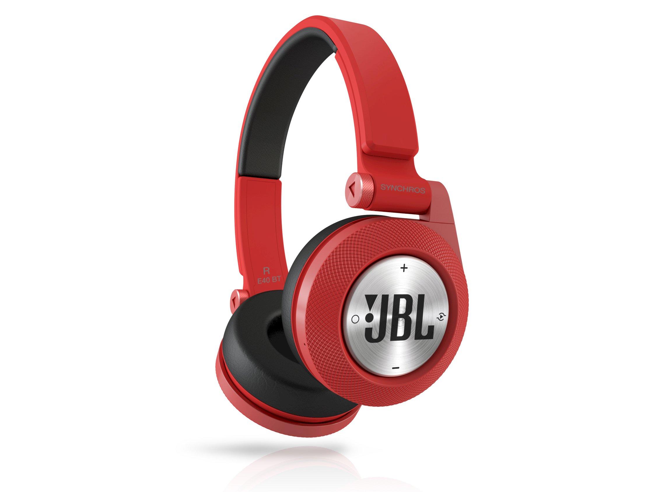 SYNCHROS E40BT, on-ear wireless HPH, BT, red