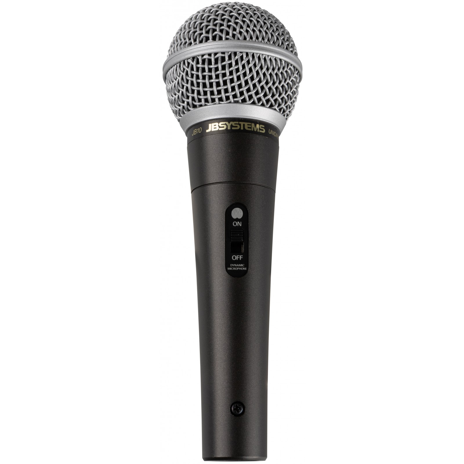 JB-10, dynamic professional microphone, XLR, 6m, black