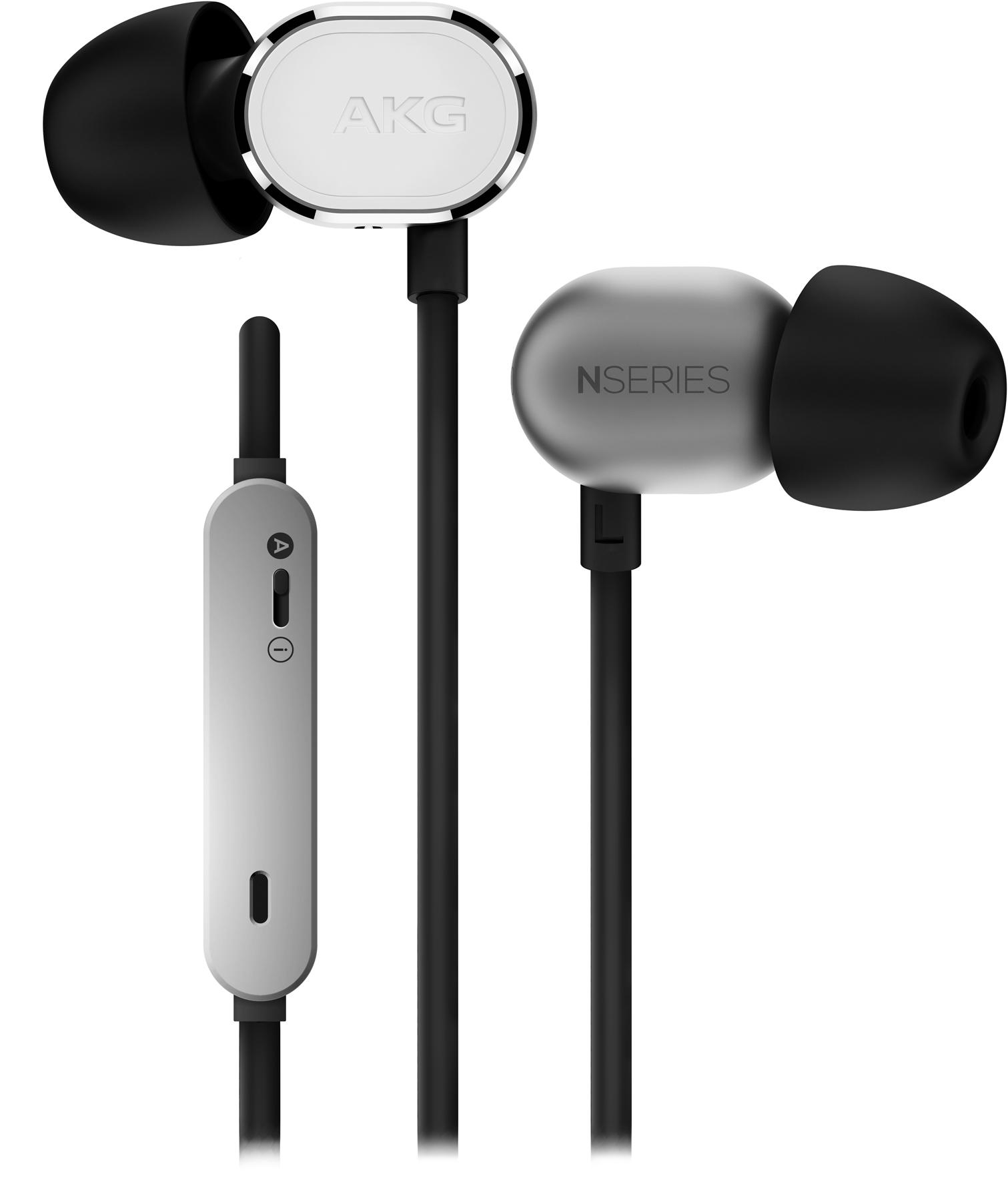 N20USIL, in-ear HPH, mic/remote, silver