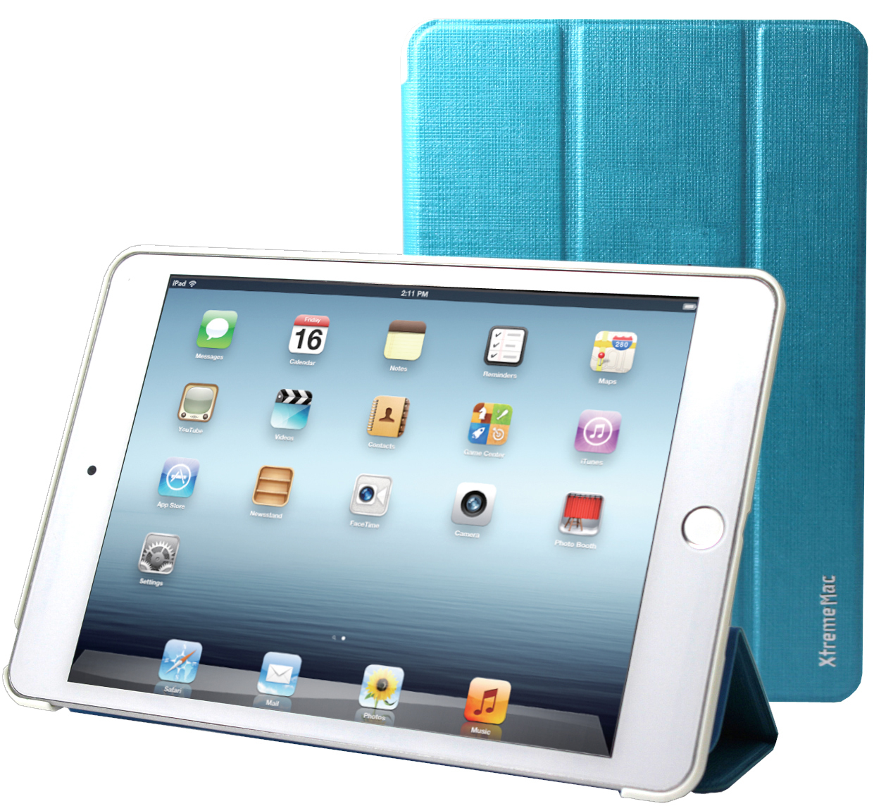 iPad Mini 4, case, microfolio, stand & active magnet, blue