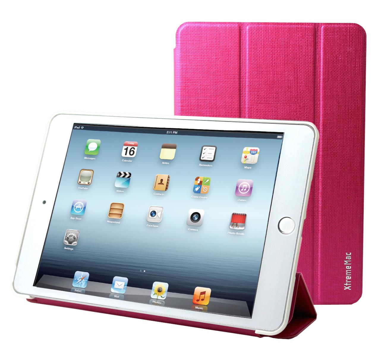 iPad Mini 4, case, microfolio, stand & active magnet, pink