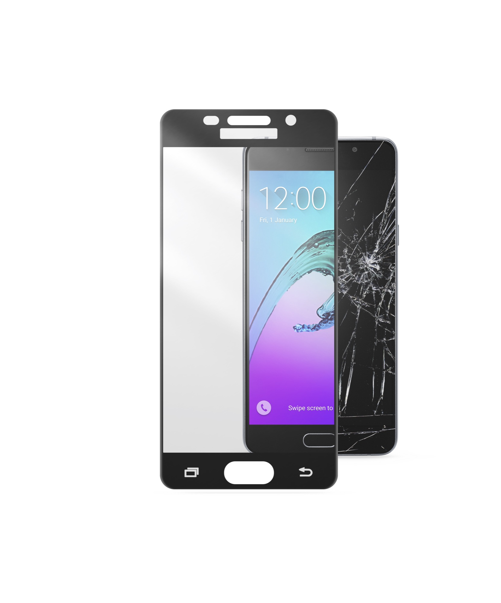 Samsung Galaxy A5 (2016), screen protector, second glass, capsule, black