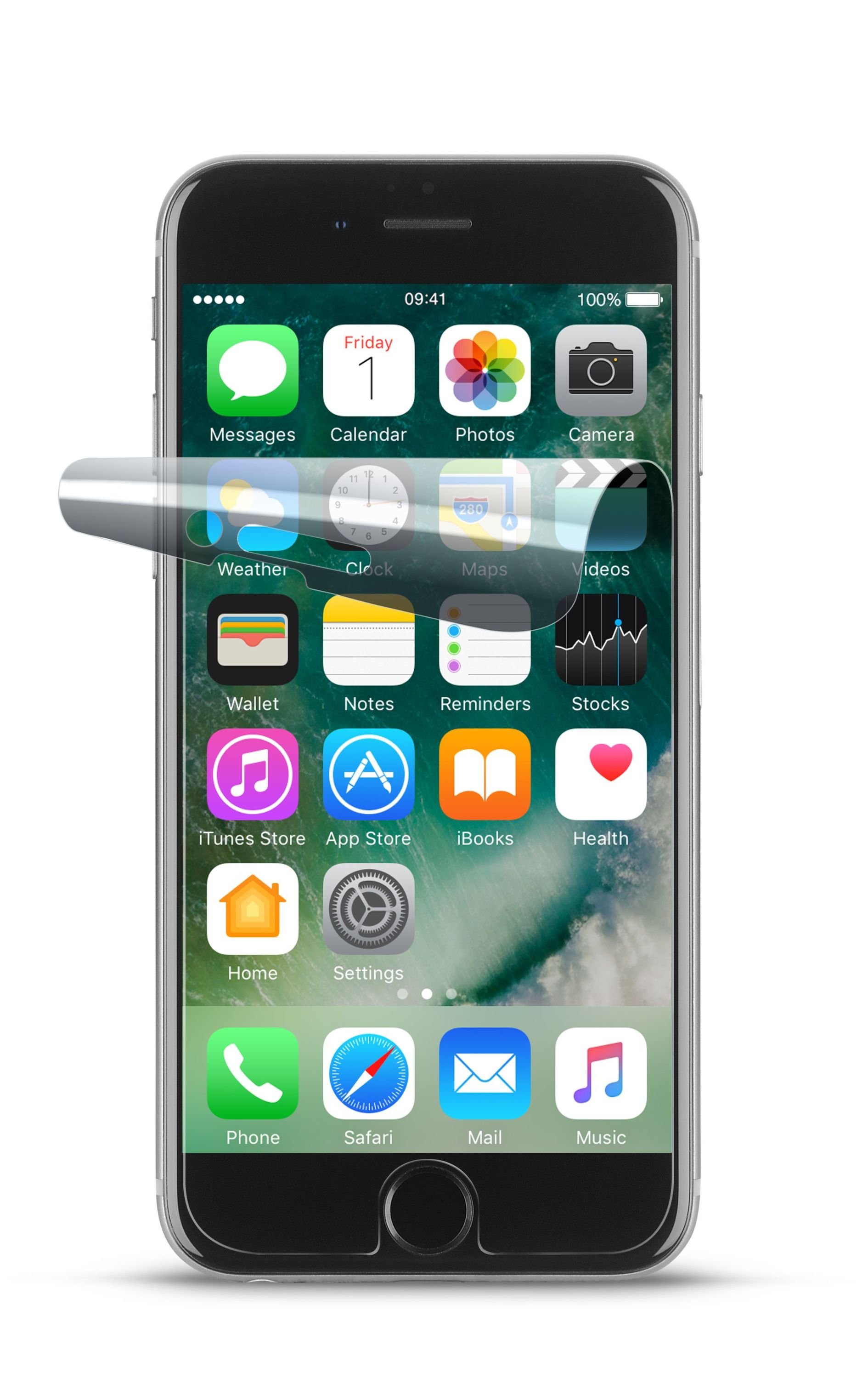 iPhone SE (2020)/8/7, screen protector, flex, transparent