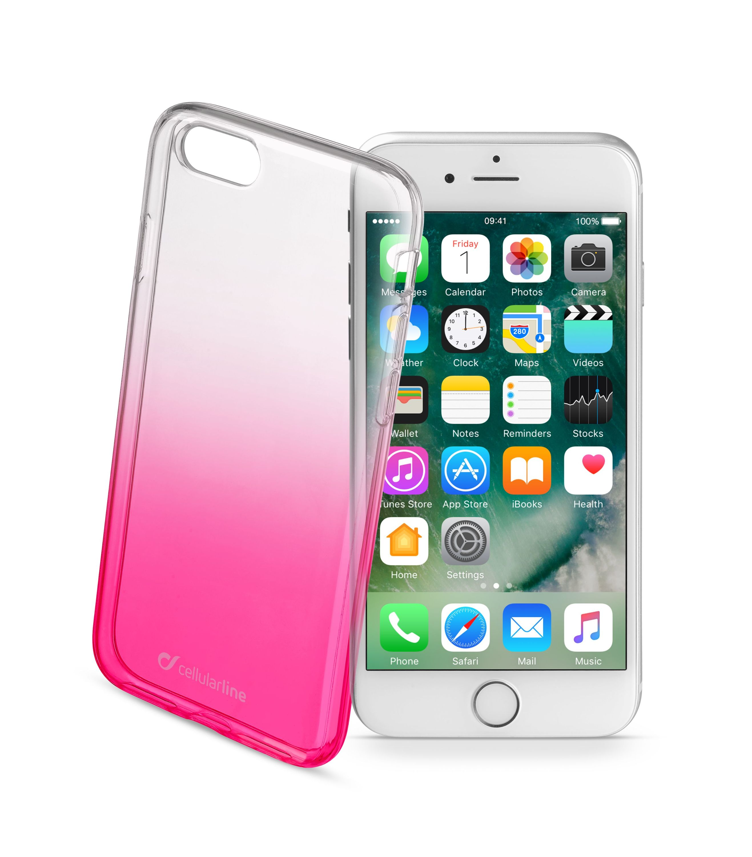 iPhone SE (2020)/8/7, cover, shadow, pink