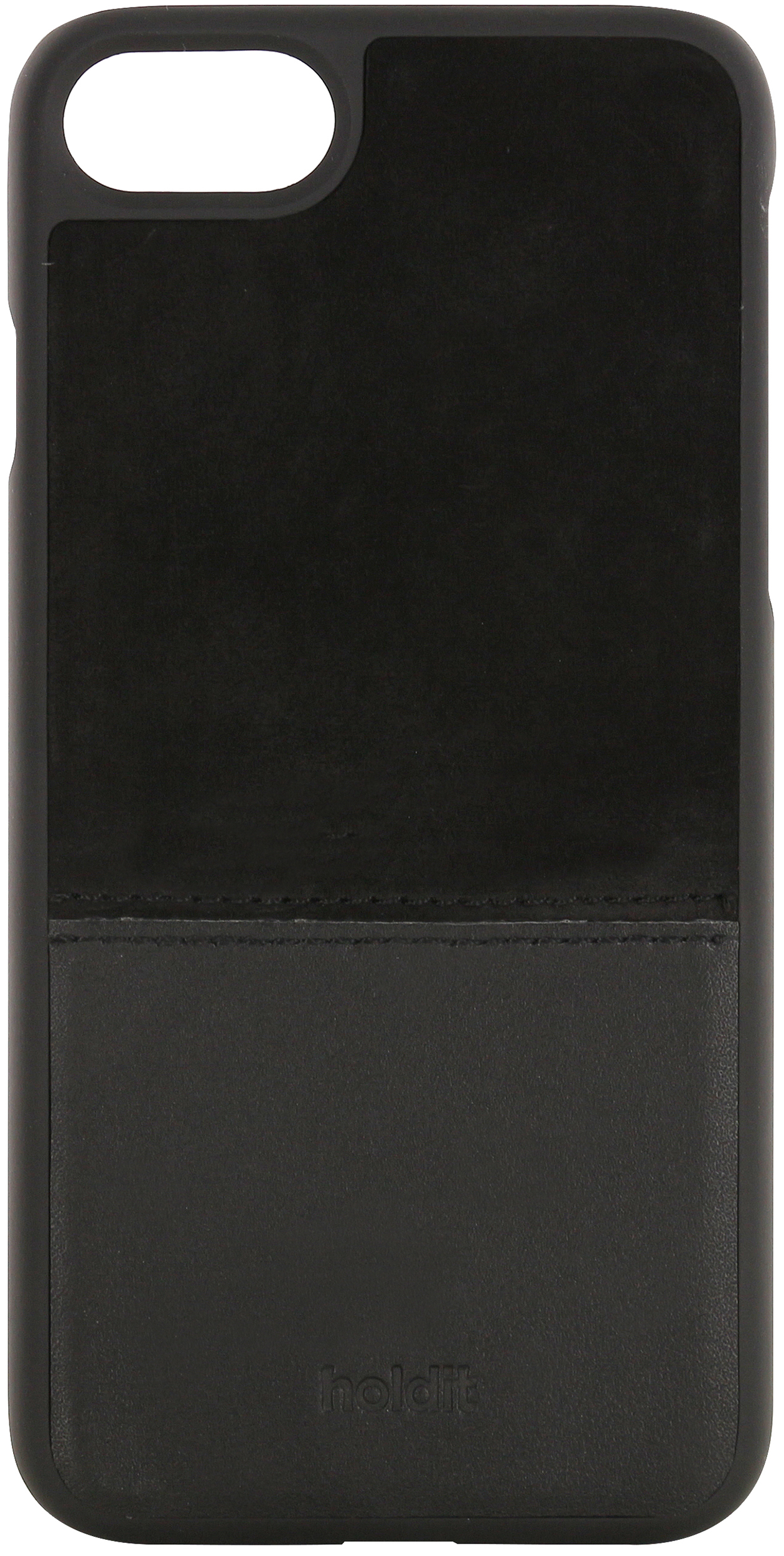 iPhone SE (2020)/8/7/6s/6, selected case leather/suede, black