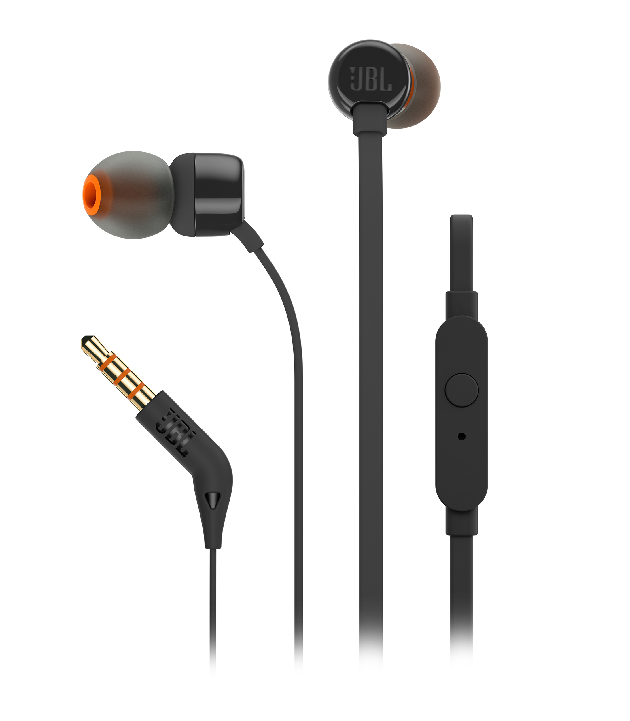 TUNE 110, wired headphones, black