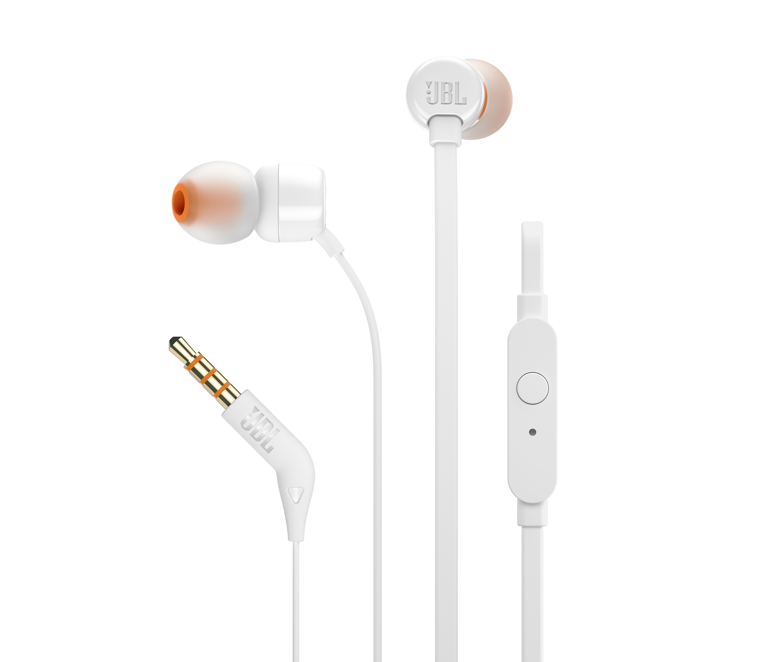 TUNE 110, wired headphones, white