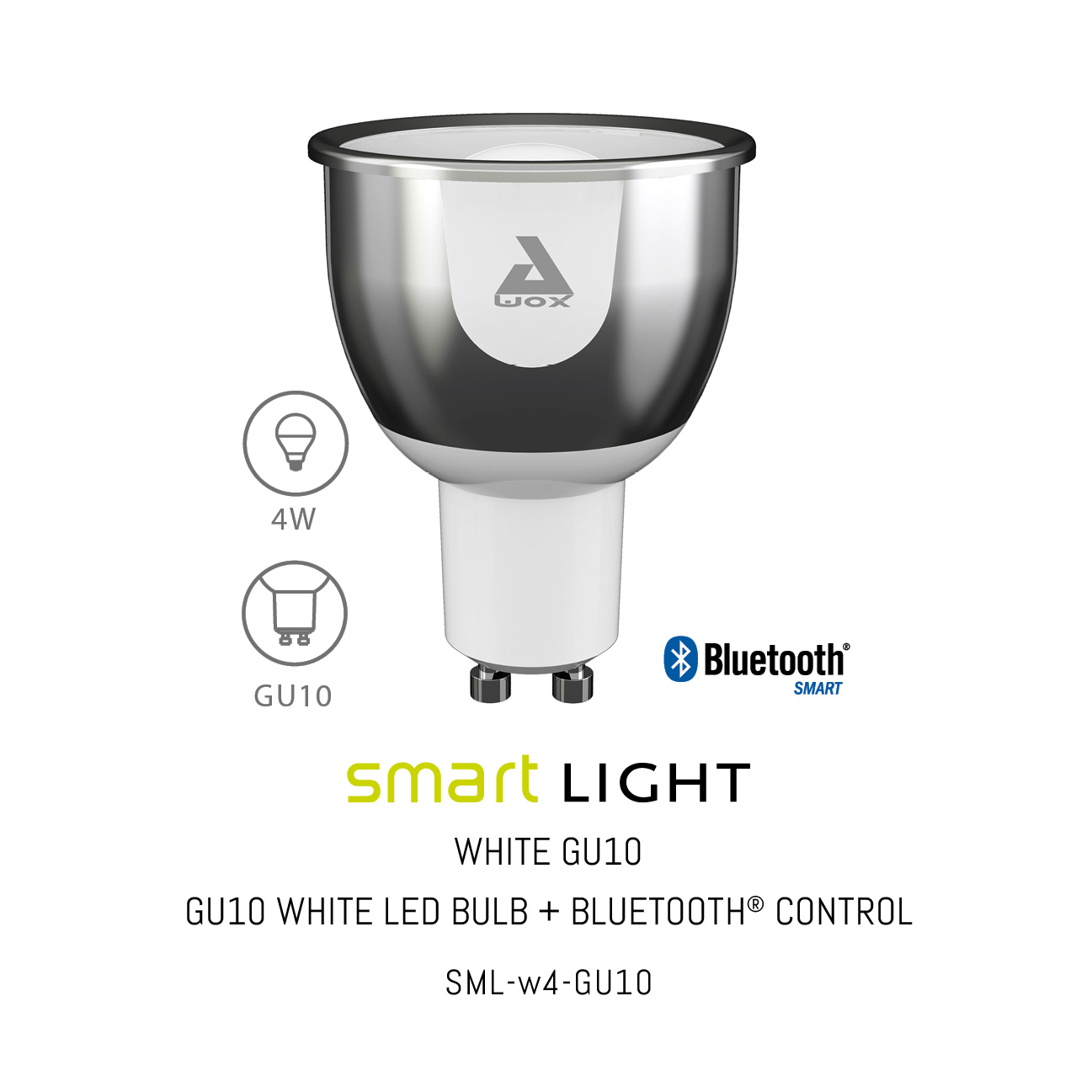 SML-W4 GU10, Smart light BT control, white