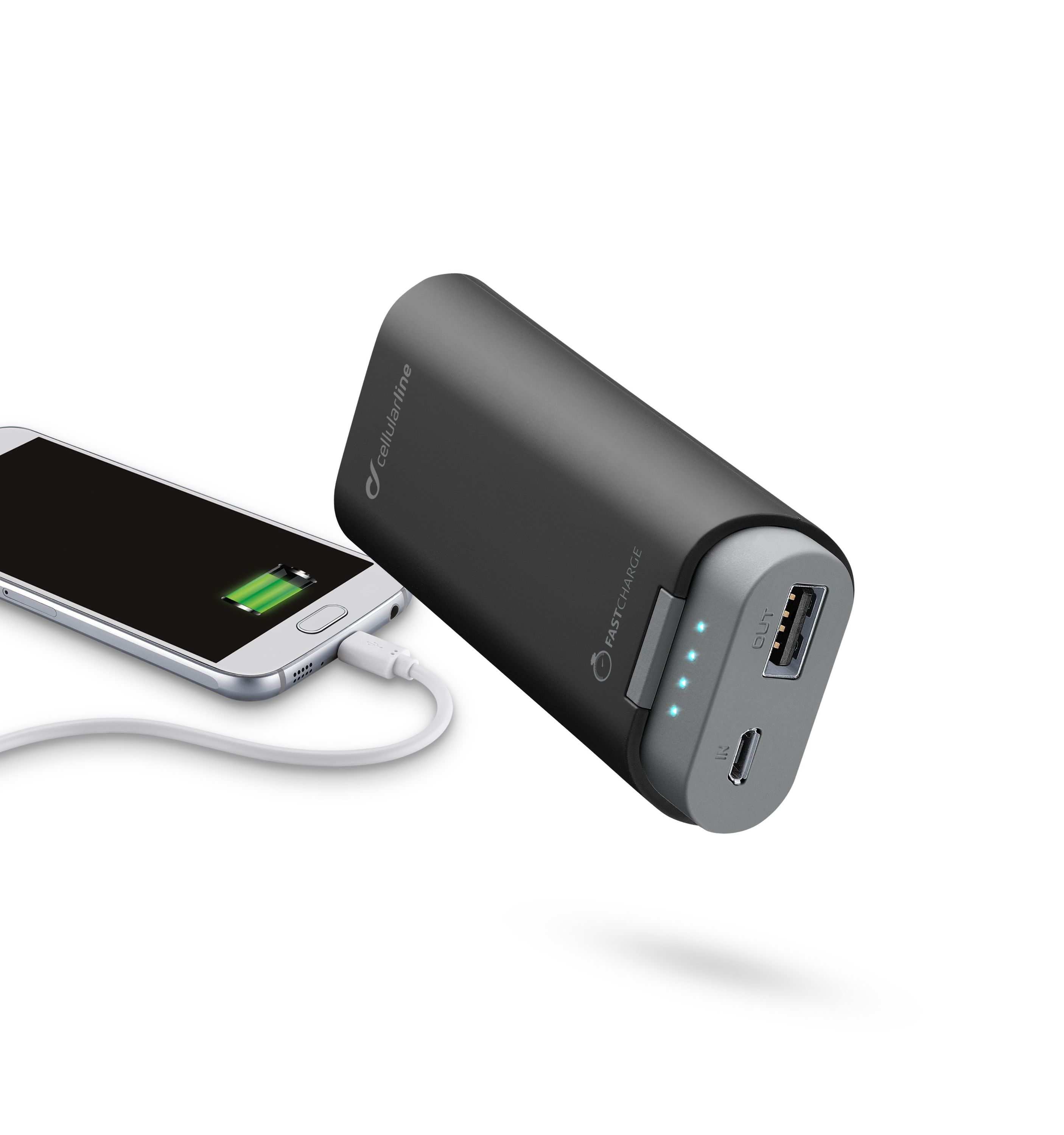 Portable charger, free power dual, 5200mAh, black