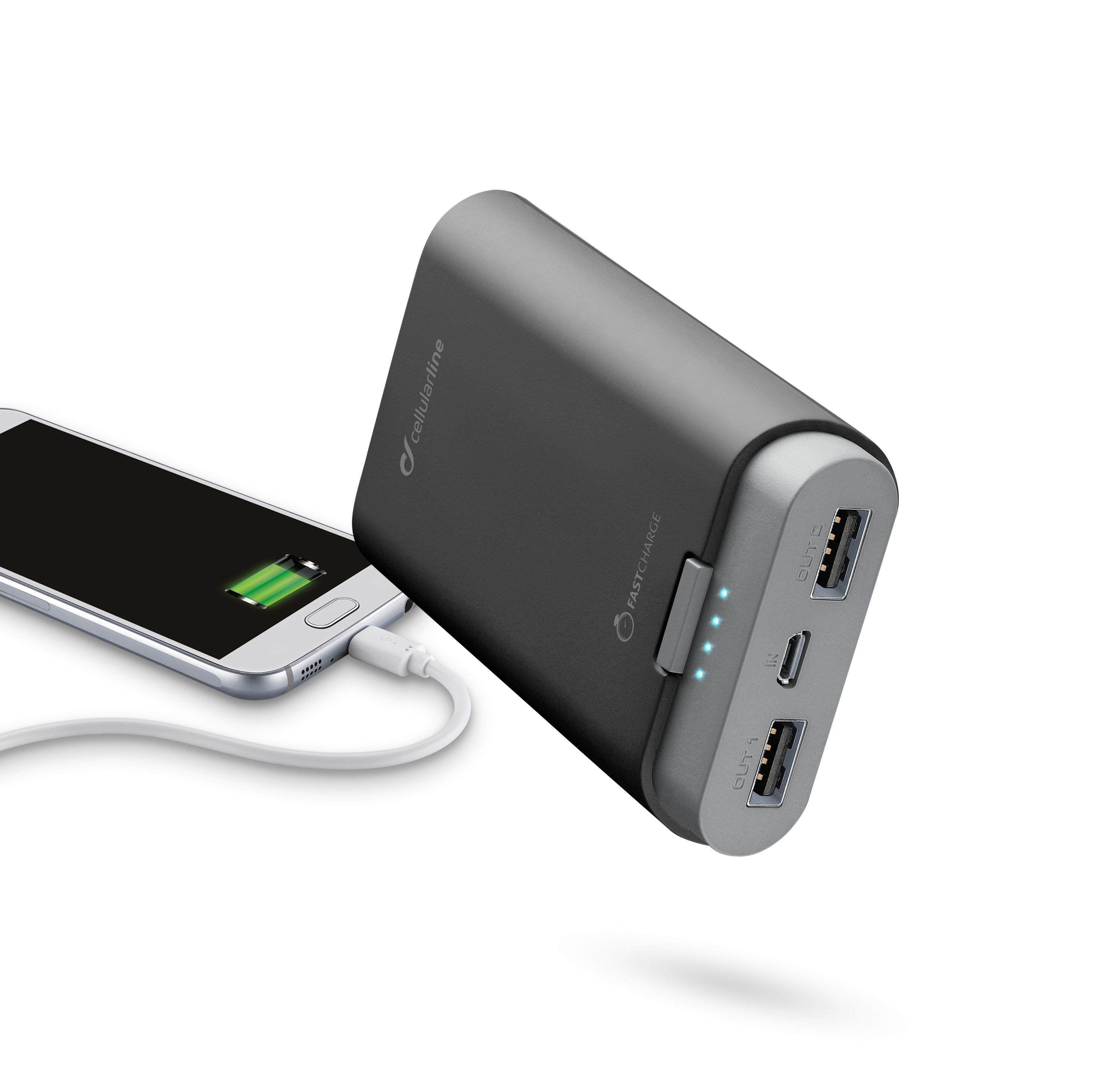 Portable charger, free power dual, 7800mAh, black