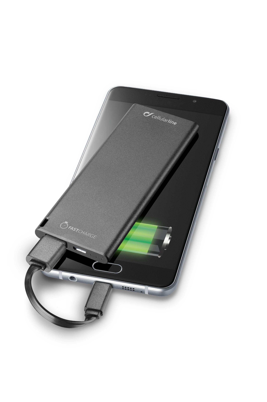 Portable charger usb, free power slim 3000mAh, black