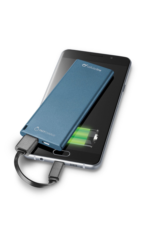 Portable charger usb, free power slim 3000mAh, blue