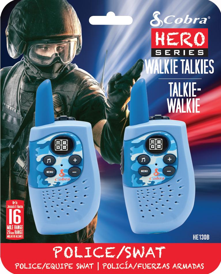 HM230B, walkie talkie, Hero Police/Swat, 2-pack, blue