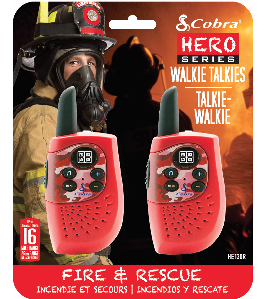 HM230R, walkie talkie, Hero Fire & rescue, 2-pack, red