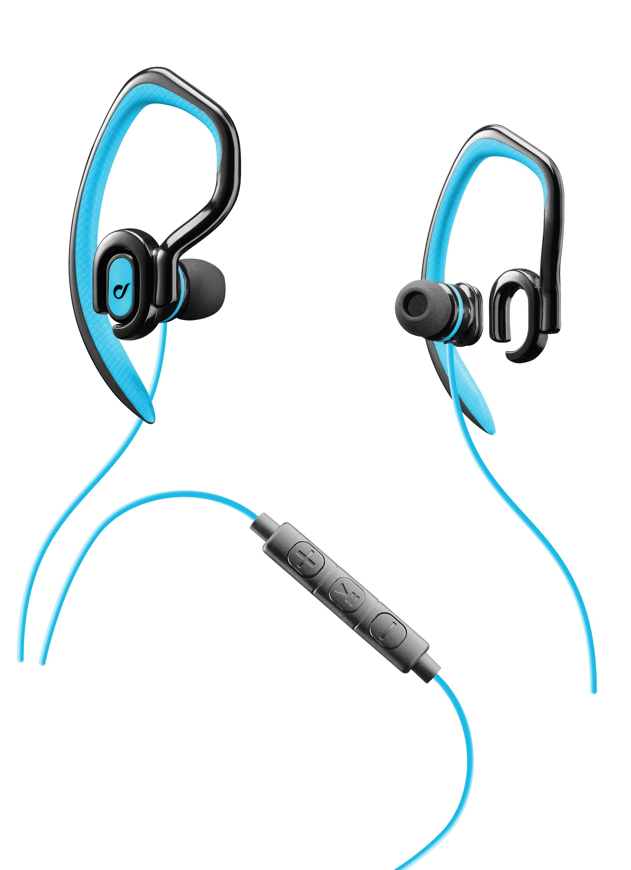 Jump, in-ear HPH with earhook, neckband, ultra light, blue