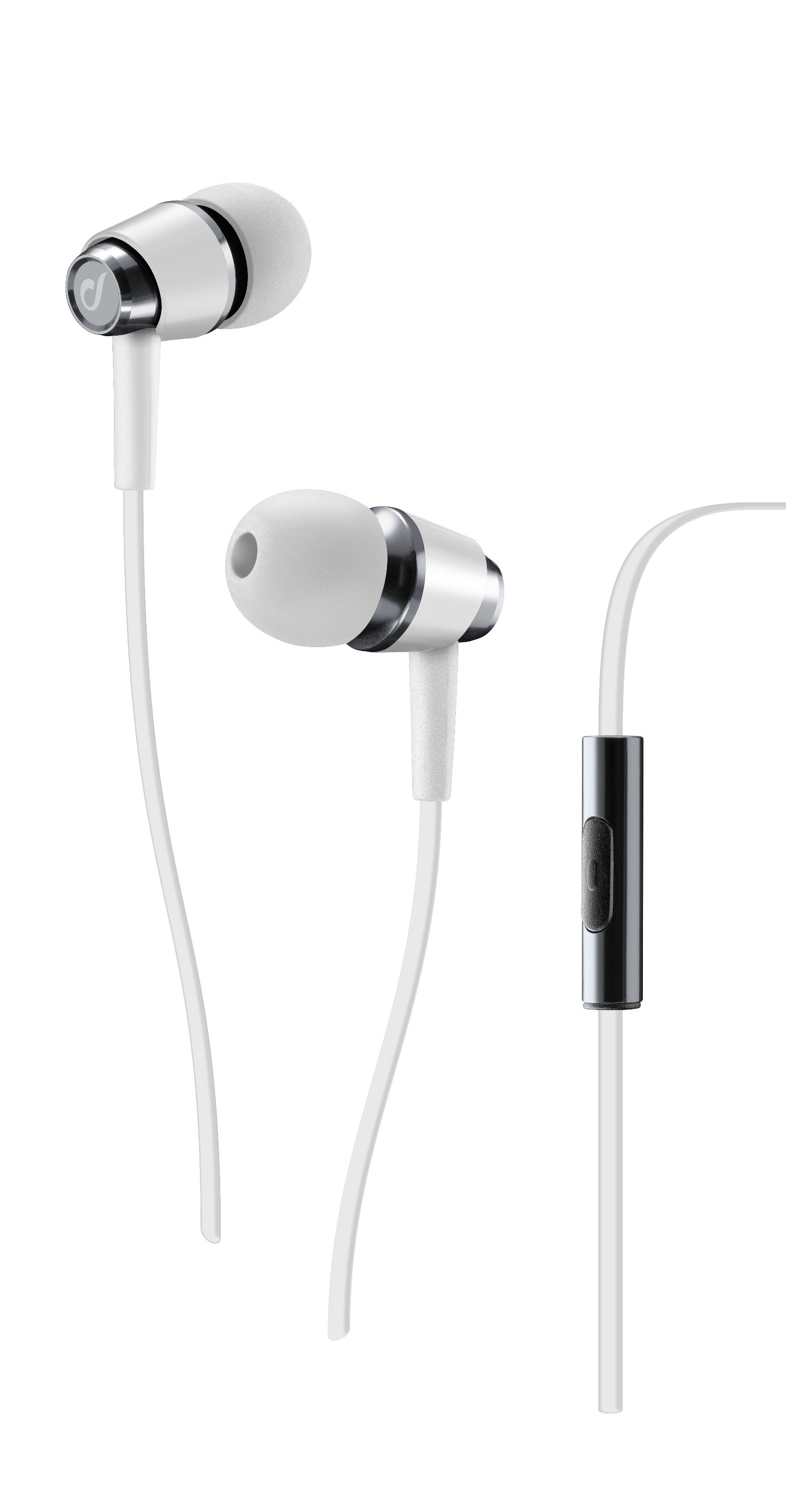 Pop, in-ear HPH with mic, white