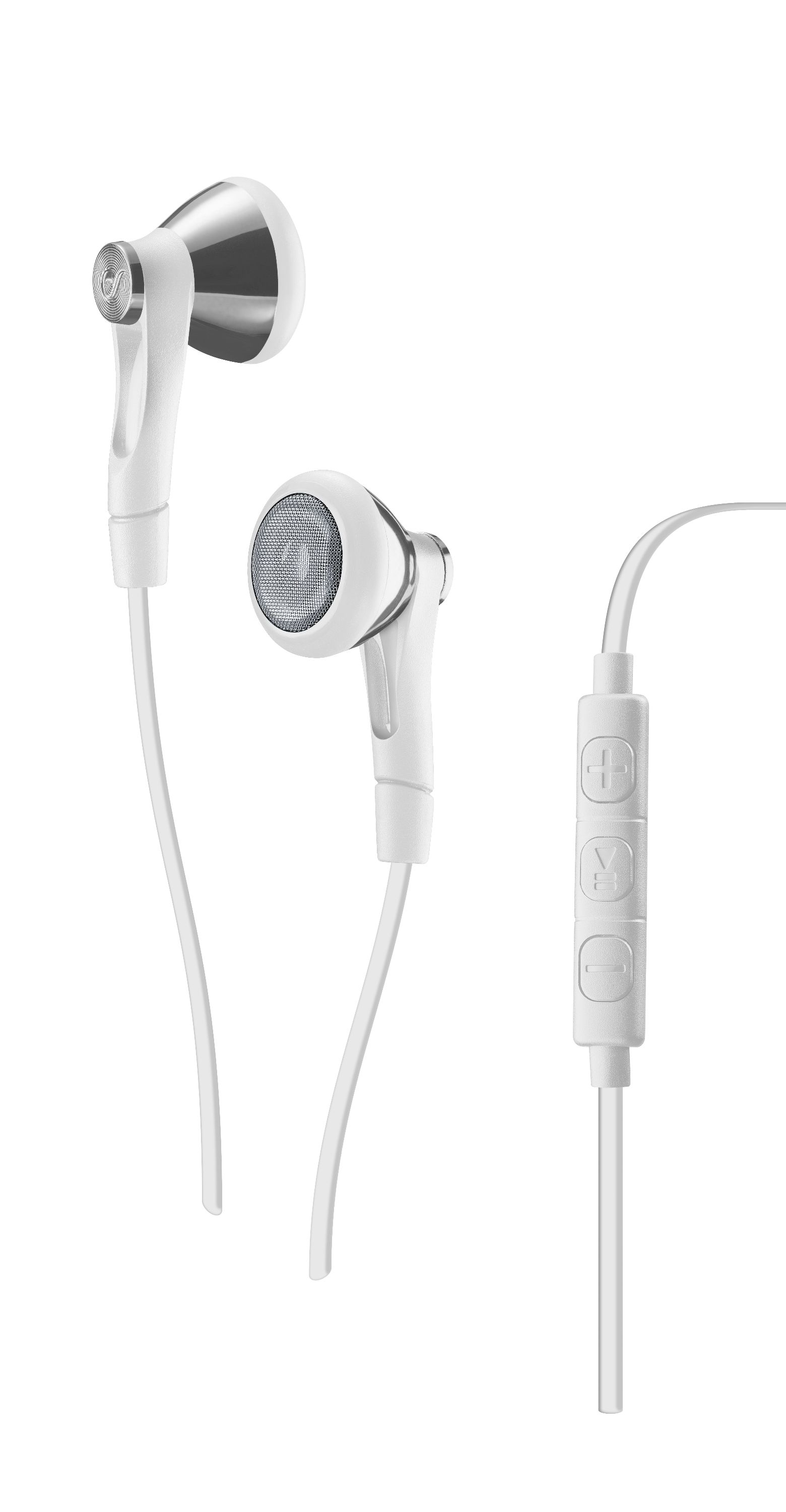 Soul up, in-ear HPH with remote, conical, white