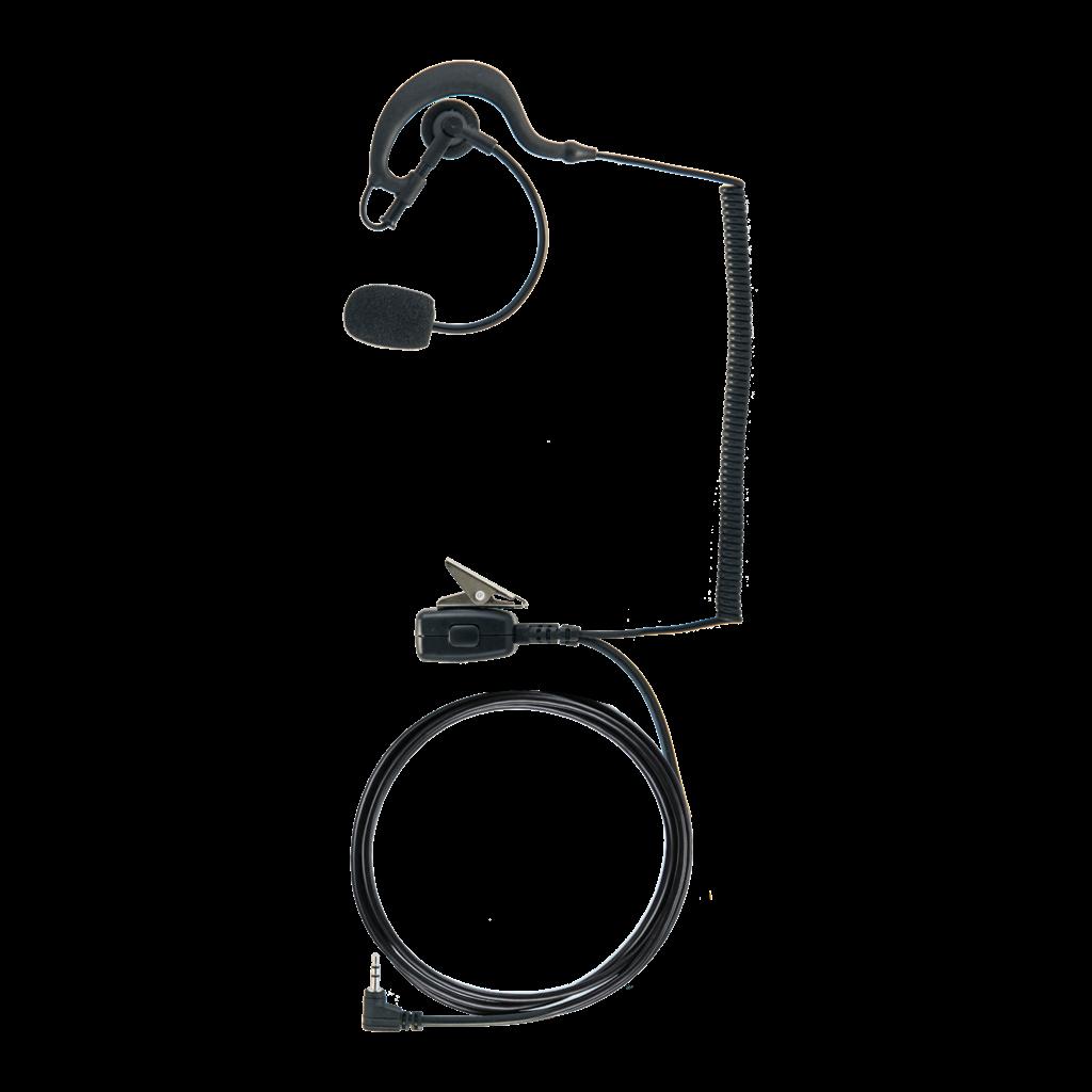 GA-EP02, in-ear HPH, earhook, PTT, black