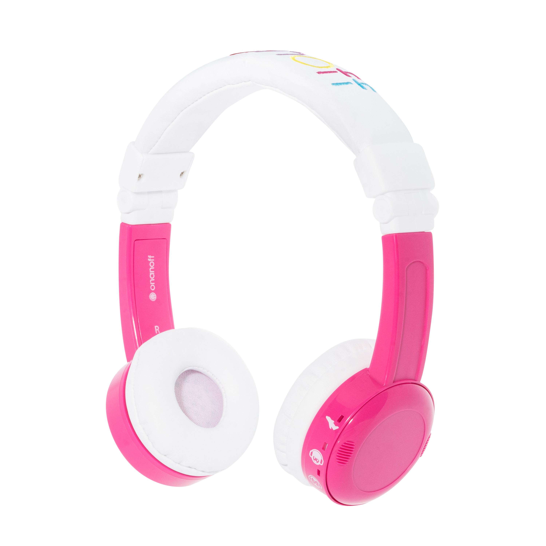 InFlight, on-ear HPH, 3 steps volume, pink