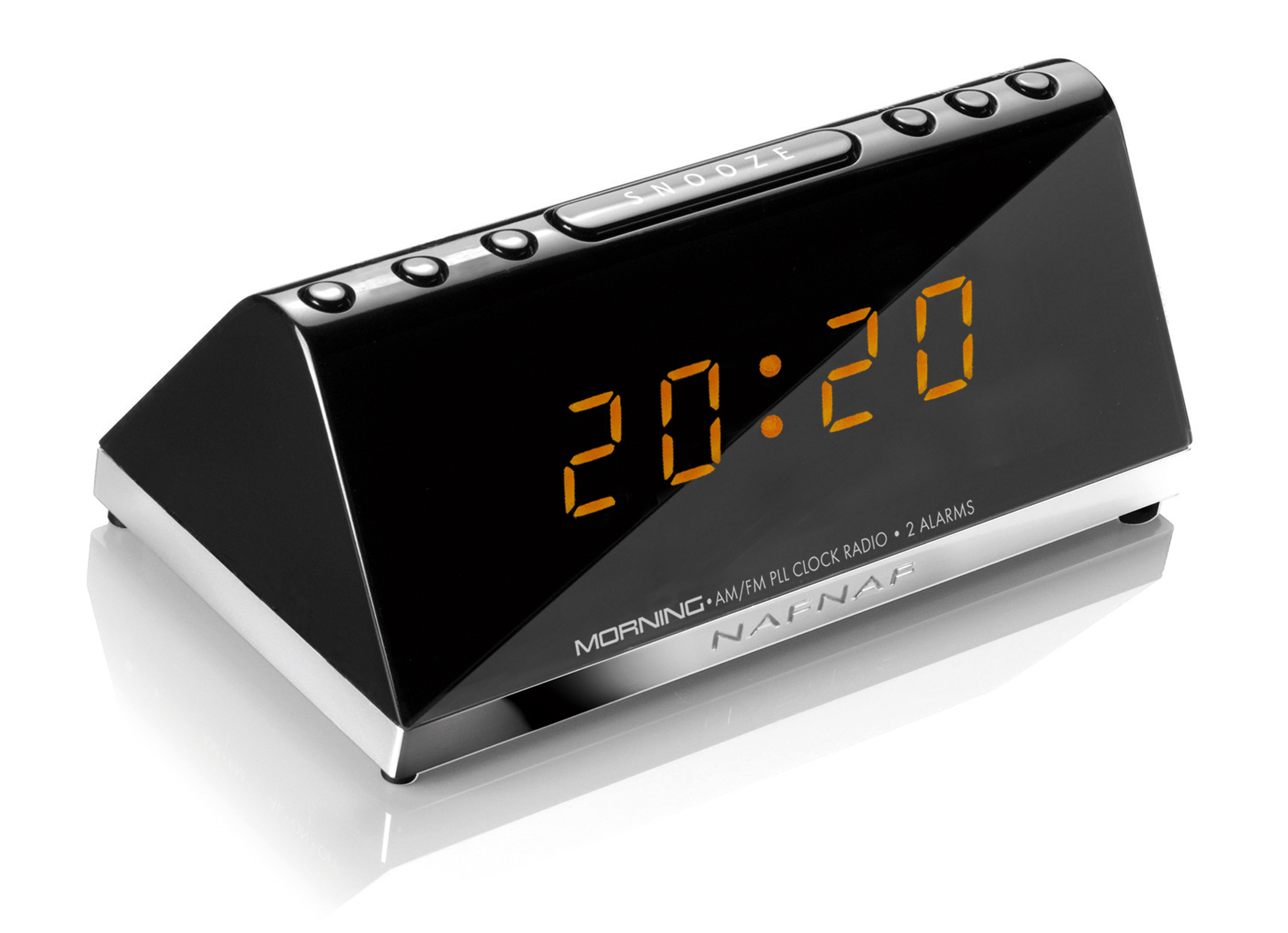 Morning v3, clockradio AM/FM buzzer, black, USB Charging