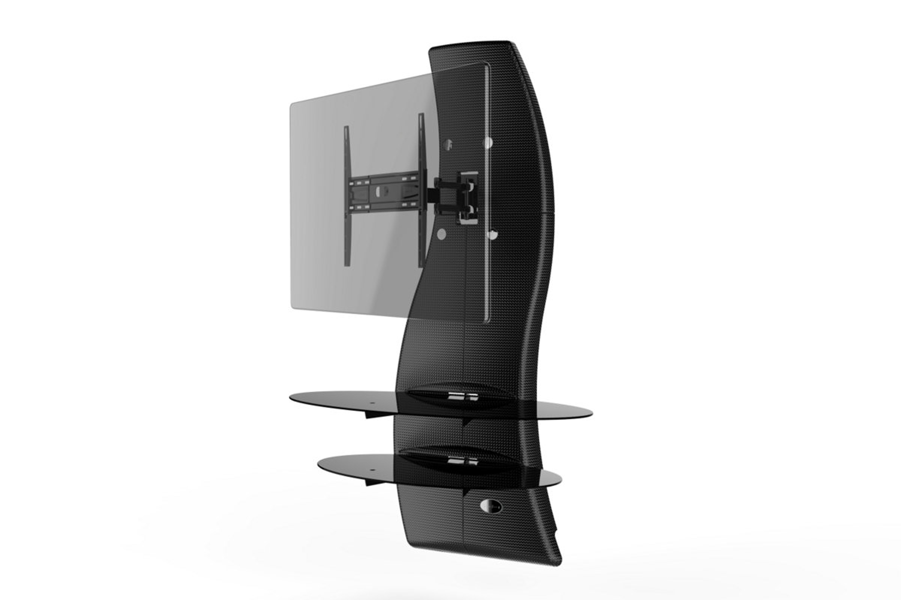 Ghost design 2000, wall cabinet double arm bracket VESA 200/300/400, carbon