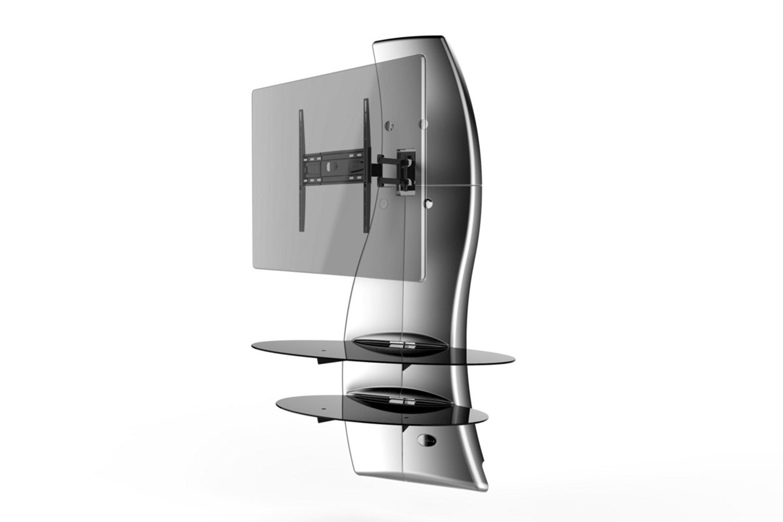 Ghost design 2000, wall cabinet double arm bracket VESA 200/300/400, silver