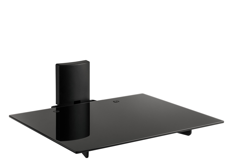 Av shelf plus, for all audio/video equipment tempered glass, white