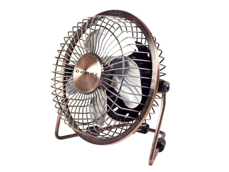 VE.402, USB table fan, 2.5W, 360�, copper