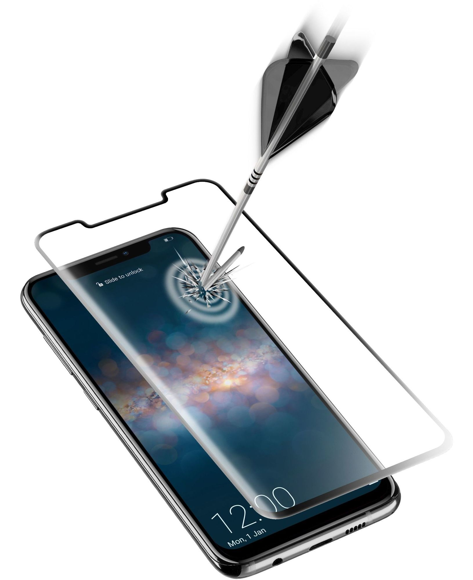 Huawei Mate 20 Pro, SP tempered glass curved, black