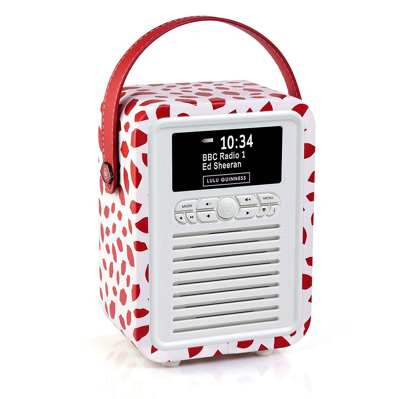VQ RETRO MINI, DAB+ portable radio, BT, LG Red Lip