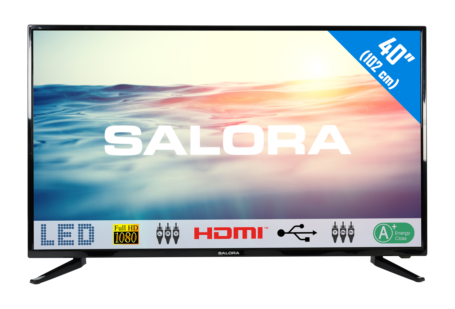 40LED1600, 40''/102cm LED TV, FULL HD 2usb -mediaplayer  2HDMI scart analog tuner a+
