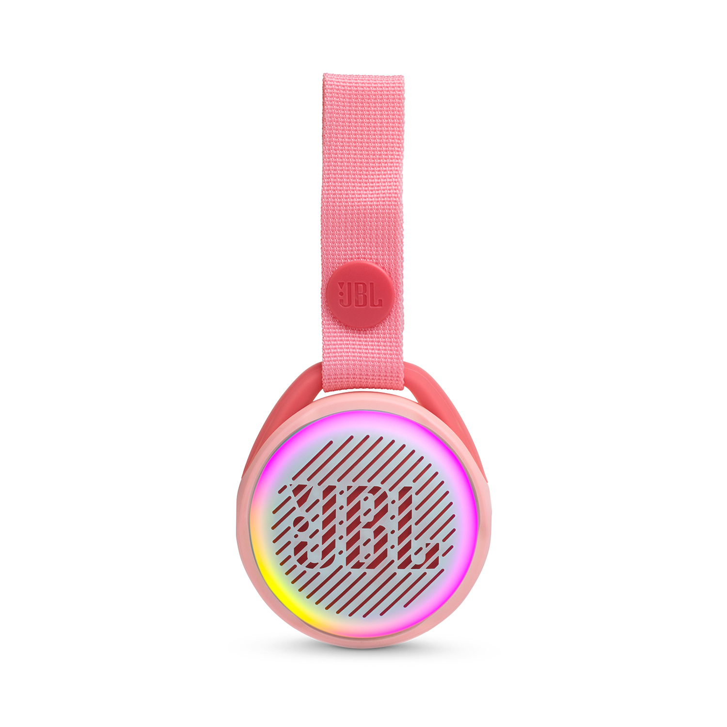 JR POP port. BT speaker for kids + light feat., Rose pink