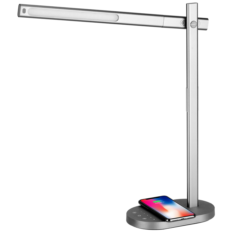 Qled, desk lamp wireless base, grey