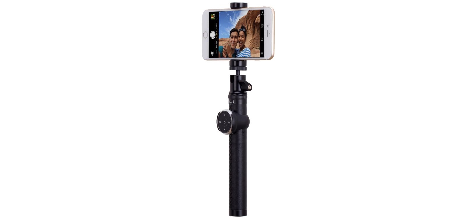 Selfie Pro, selfie stick BT 90 cm, black