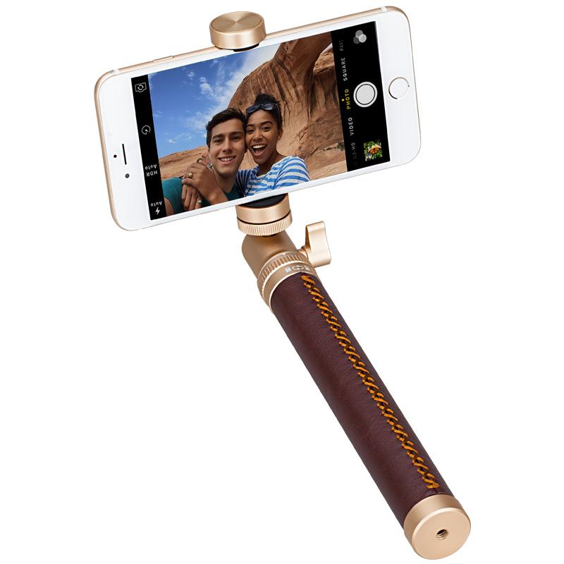 Selfie Pro, selfie stick BT 90 cm, gold