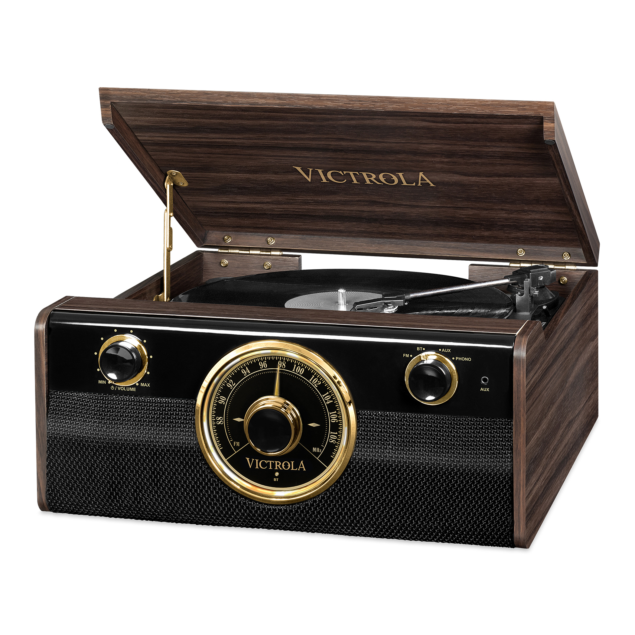 VTA-240B-ESP, wooden 3-in-1 music center record-player 3-vit, espresso