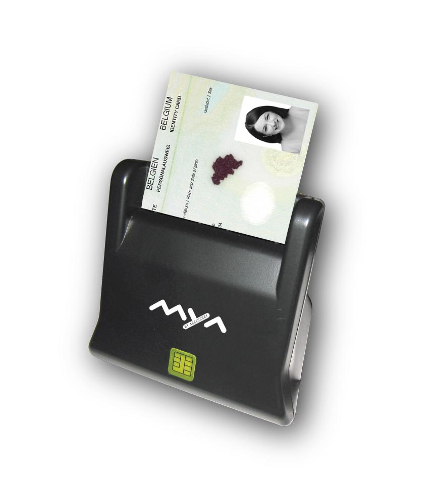 Smart card reader, black