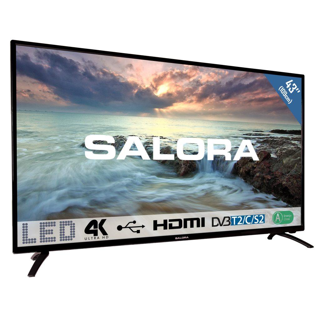 """43""""/109cm LED TV UHD,black"""