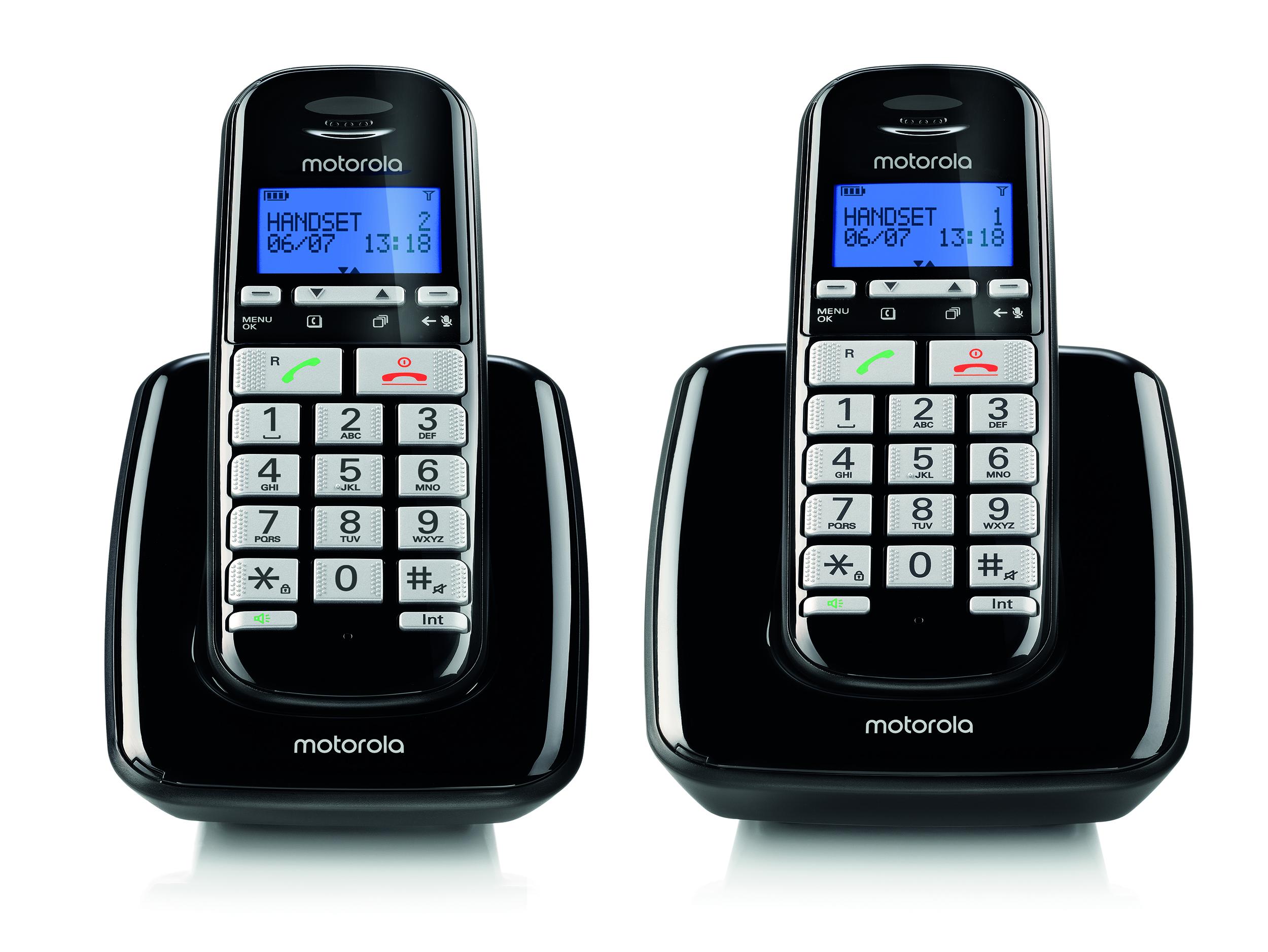 S3002, dect comfort dual handset, black