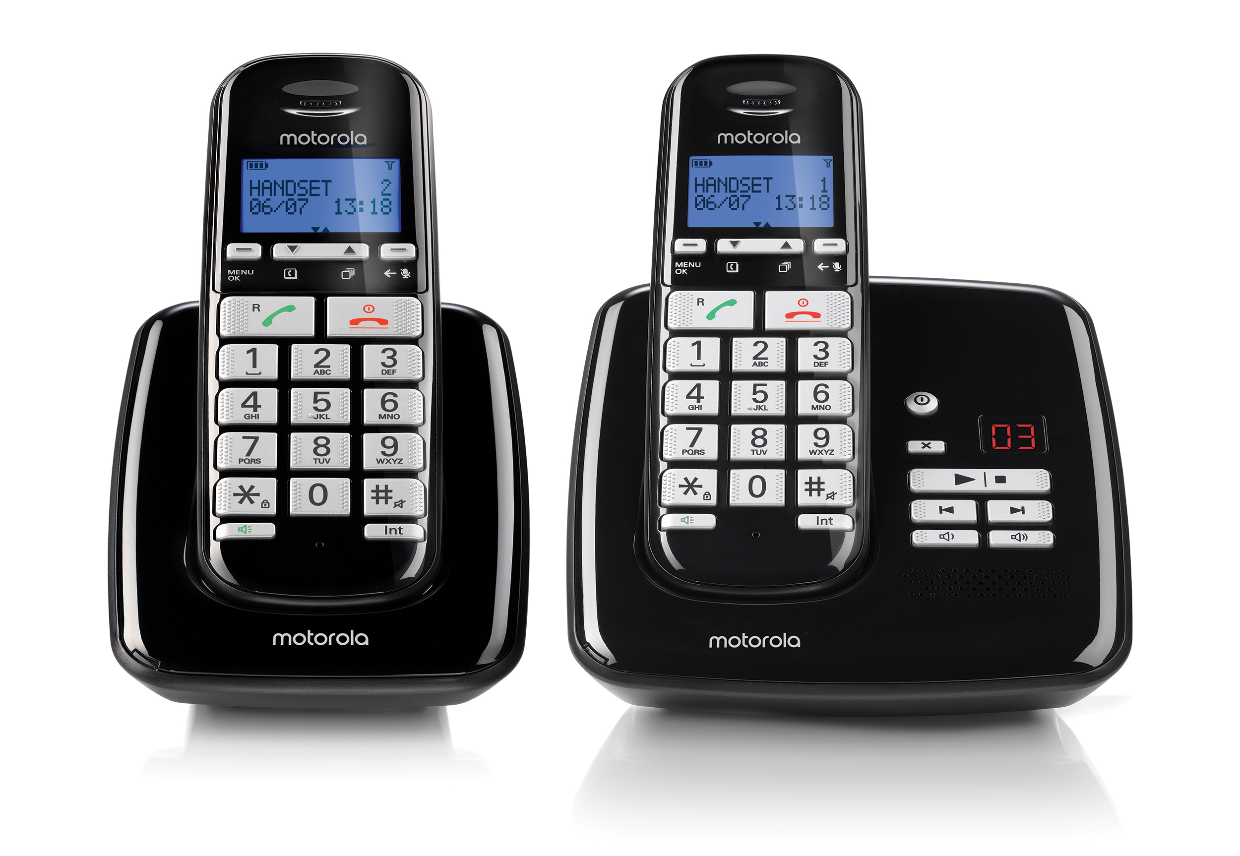 S3012, dect comfort dual handset answering machine, black