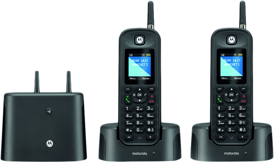 O212, dect outdoor dual handset answering machine, black