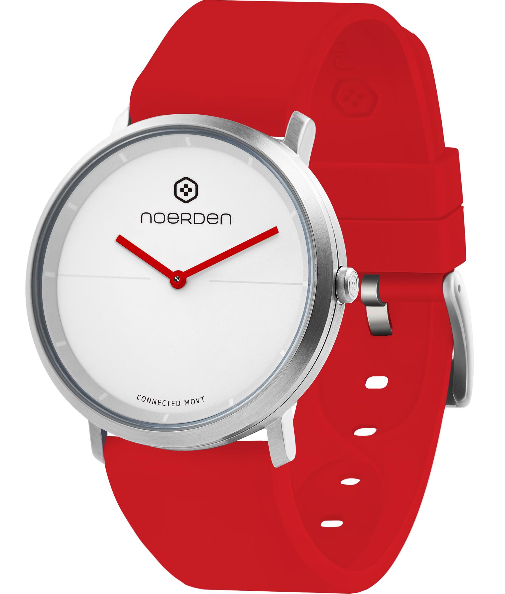 Life 2, hybrid smartwatch, red